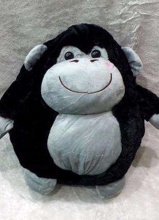 Плед - мягкая игрушка 3 в 1 обезьянка (черная)