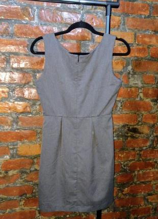 Летнее офисное платье чехол футляр из костюмной ткани gap2 фото