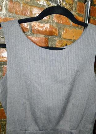 Летнее офисное платье чехол футляр из костюмной ткани gap3 фото