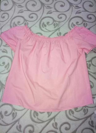 Розовая блуза из хлопка