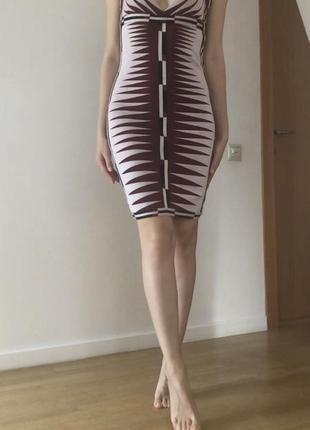 Бандажное платье zara
