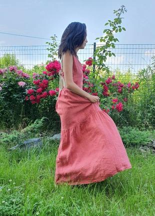 Льняное платье wiya (италия) размер s-l