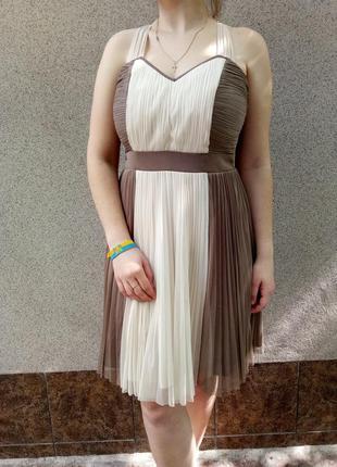 Платье плиссе с красивой спинкой