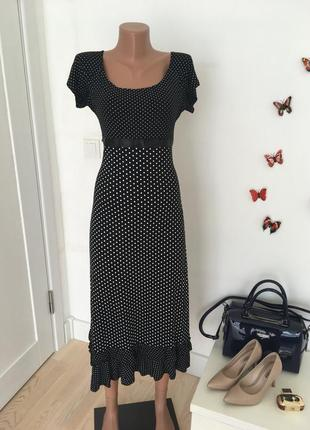 Платье макси в горох