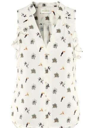 Блуза тропический принт от h&m