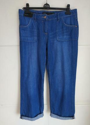 Летние укороченные джинсы next  с карманами и подворотами