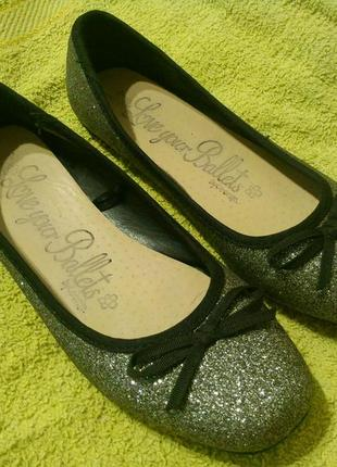 George тапочки балетки туфли босоножки блестящие