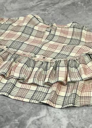 Блуза в клетку с воланами из вискозной ткани  bl1924083 zara2 фото