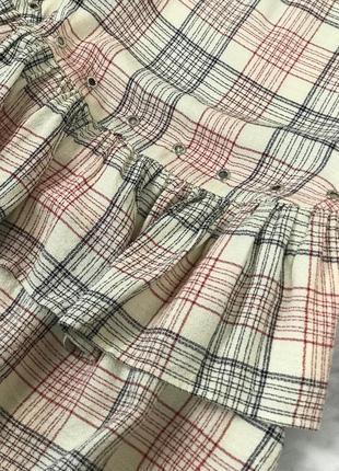 Блуза в клетку с воланами из вискозной ткани  bl1924083 zara3 фото