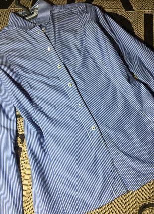 Классическая рубашка в полоску от massimo dutti