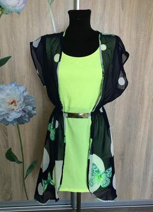 Невероятно-красивое и яркое платье-миди 2в1 от defile lux