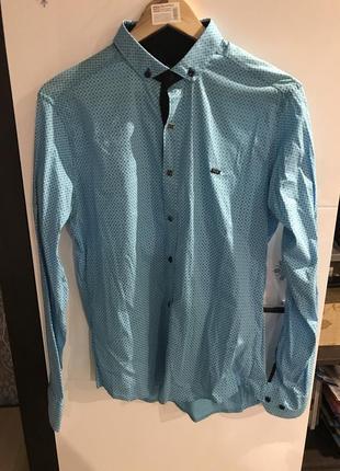 Новая мужская голубая рубашка paul smith