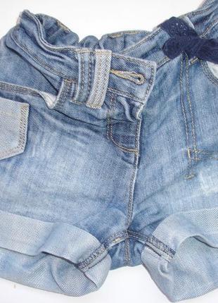 Фирменные next стильные шорты девочке 2-3 лет