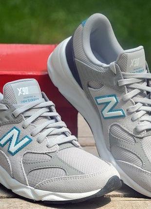 Оригинал new balance! кроссовки серые модель x-90 , gsx90rof нью беленс