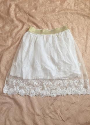 Кружевная юбка мини от atm