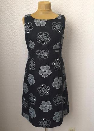 Красивое льняное платье от laura ashley размер англ 16, евр 42, укр 48-50