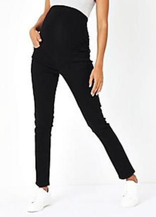 Черные джинсы скинни для беременных или для девушек большого размера 22 uk