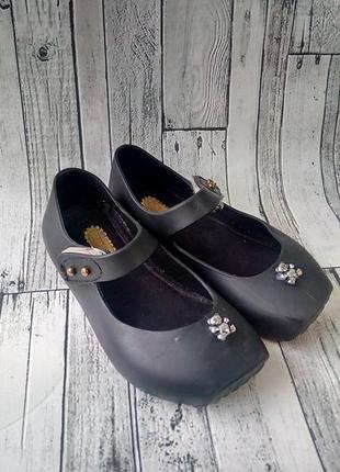 Силиконовые туфли туфельки чёрные праздничные размер р-р 23см 14,5
