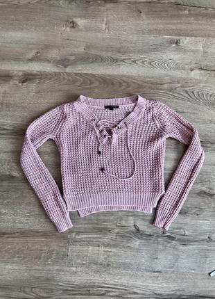 Стильна кофта на зав'язку , свитер, светрик