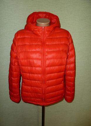 Стеганая куртка benetton, пуховик, р uk 16 в отличном состоянии