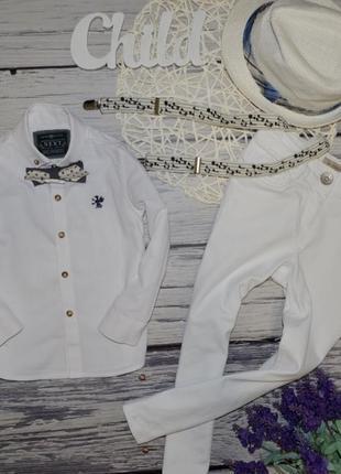 3 года 98 см фирменная рубашка модная классика для мальчика next некст