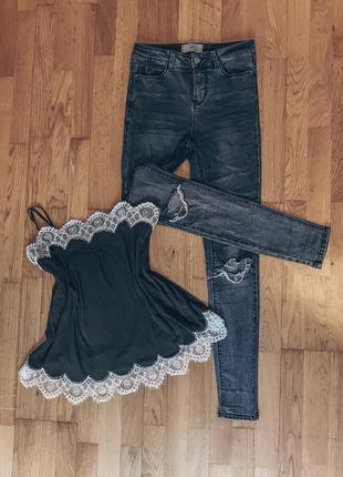 Майка m&s, джинсы new look