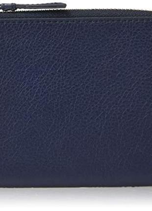 Кошелек на молнии кожаный fossil сша портмоне кошельки натуральная кожа