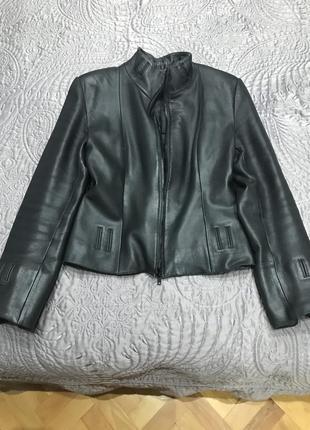 Кожаная куртка женская2 фото