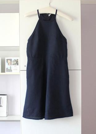Cарафан платье из льна и хлопка c вышивкой от gap