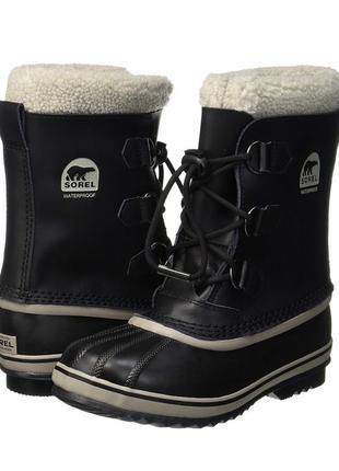 Зимние кожаные сапоги sorel  34р  оригинал . сноутбутсы. ботинки .