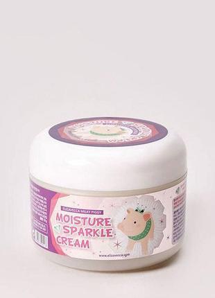 Крем увлажняющий с эффектом сияния elizavecca face care milky piggy moisture sparkle cream