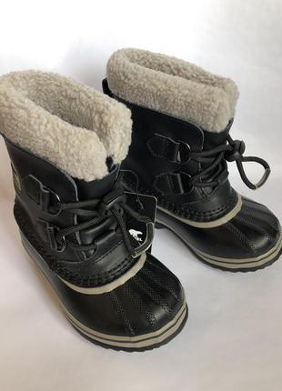 Зимние кожаные сапоги 27р sorel t'-40c . сноутбутсы ботинки оригинал