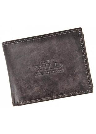 Мужской кожаный кошелек wild n992-mcr