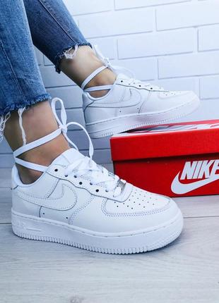 35ce7f74 ... Стильные кроссовки 😍 nike air force classic leather white 😍7 фото ...