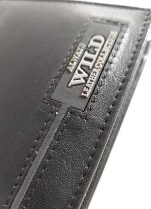 Мужской кожаный кошелек wild n992-rb9 фото