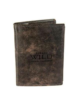 Мужской кожаный кошелек wild n890-mcr