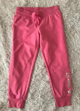 Классные розовые спортивные штаны gap