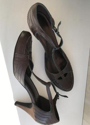 Босоножки кожа, туфли для танца, бачата, сальса, латина, ретро