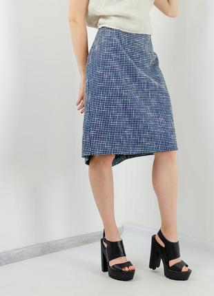 Laura ashley стильная фактурная миди юбка, нова фактурна міді спідниця