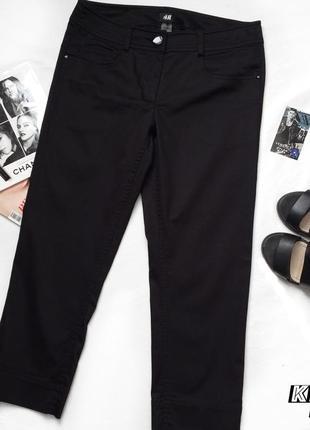 Черные стильные бриджи от h&m