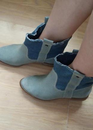 2d942d9ef Оригинальные джинсовые ботинки, сапоги, казаки в стиле вестерн zara 37р.