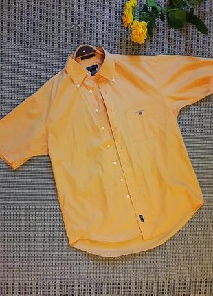 Хлопковая рубашка с коротким рукавом #gant #оригинал