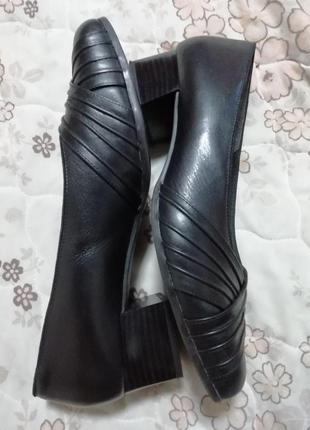 Туфли кожаные leonie 40 размер стелька 26см