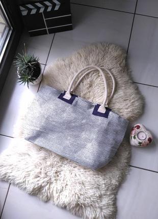 Пляжная сумка,сумка на пляж большая, лёгкая в полоску