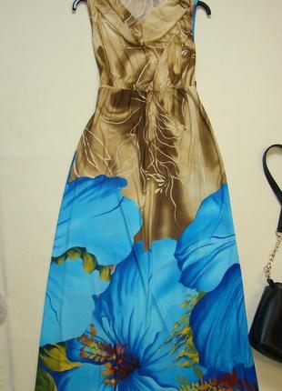 Яркое платье в пол / макси платье s-m