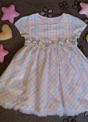 Детское платье с пушистым подьюпником