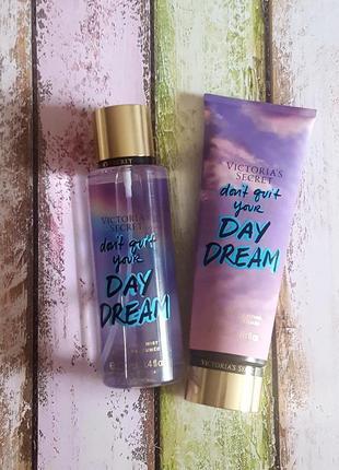 Парфюмированный набор спрей  и лосьон для тела victoria's secret don't quit your day dream
