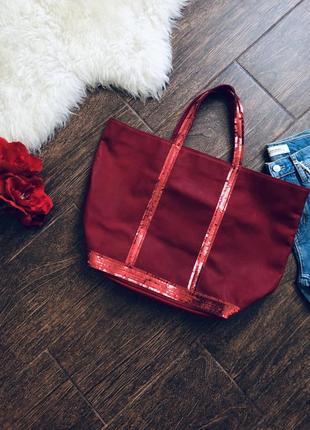Шикарная кожаная сумка в паетки известного бренда vanessa bruno