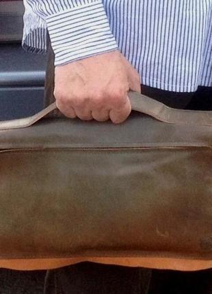 Мужская сумка (барсетка) *marcell* натуральная кожа