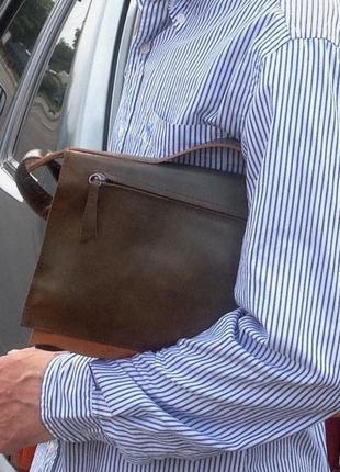 Мужская сумка (барсетка) *marcell* натуральная кожа2 фото